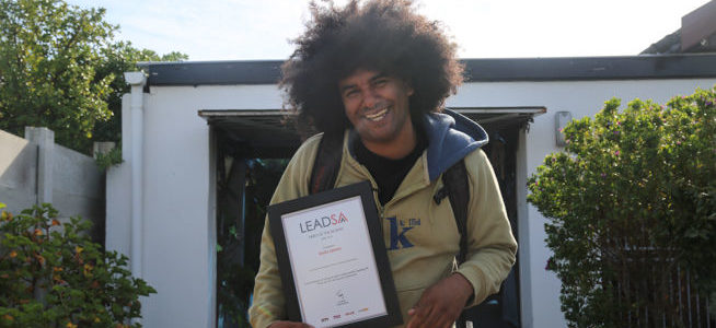 Emile wins April LeadSA Hero Award